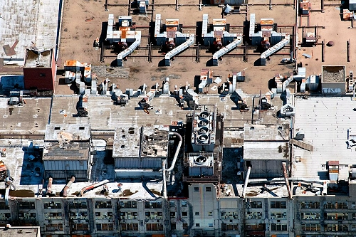 Airphoto Aerial Photograph Of Abandoned Factory Denver