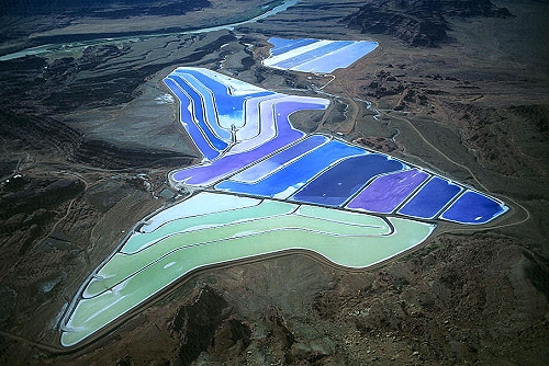 Aerial photo of Moab Potash Mine, Grand County, Utah, UT  United States