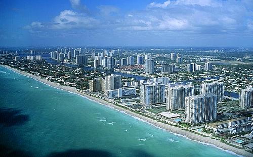 airphoto aerial photograph of miami beach miami dade county