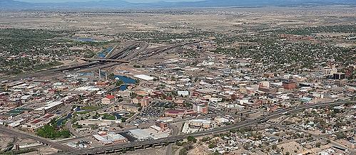 airphoto   aerial picture of pueblo panorama pueblo