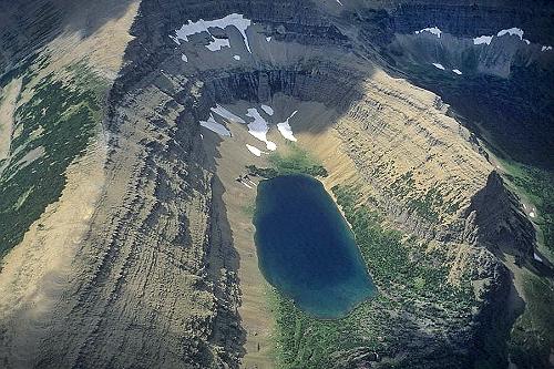 Airphoto  Aerial Photograph of Glacier National Park Glacier